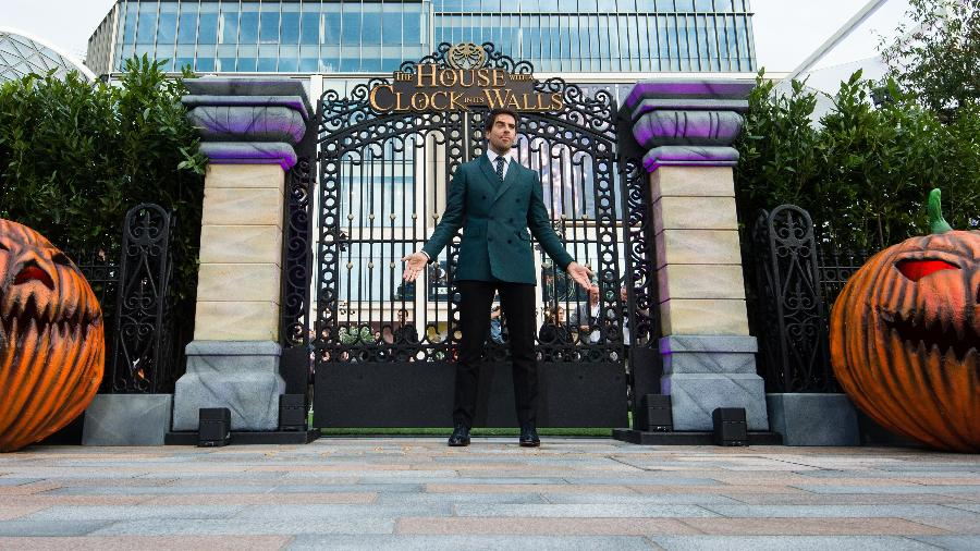 """O diretor Eli Roth promove o filme """"O Mistério do Relógio na Parede"""", em Londres - Getty Images"""
