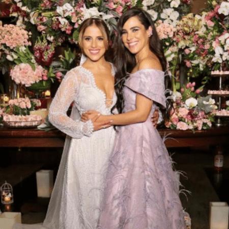 Wanessa Camargo no casamento da irmã, a atriz Camilla Camargo - Reprodução/Instagram