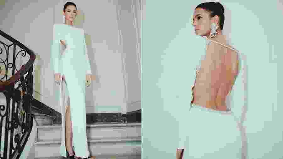 Bruna Marquezine arrasa com vestido branco em Paris - Reprodução/Instagram