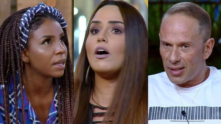 Laune Dias, Perlla e Rafael Ilha formam a quarta roça  - Montagem/PlayPlus