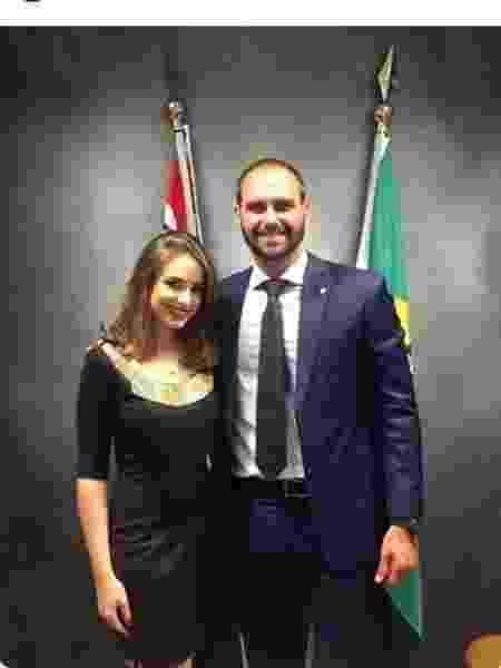 Eduardo Bolsonaro e Patrícia Lélis, na época em que teriam namorado - Reprodução/Instagram