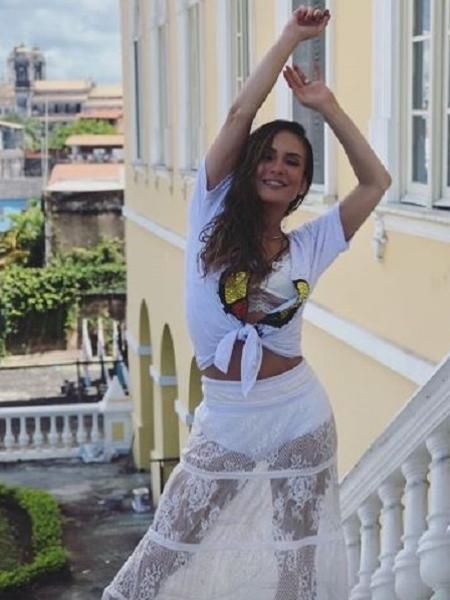 Claudia Leitte grava clipe no Pelourinho - Reprodução/Instagram/@claudialeitte