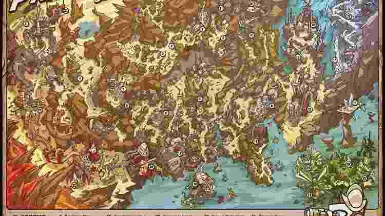 Mapa de Pandora no primeiro Borderlands - Reprodução
