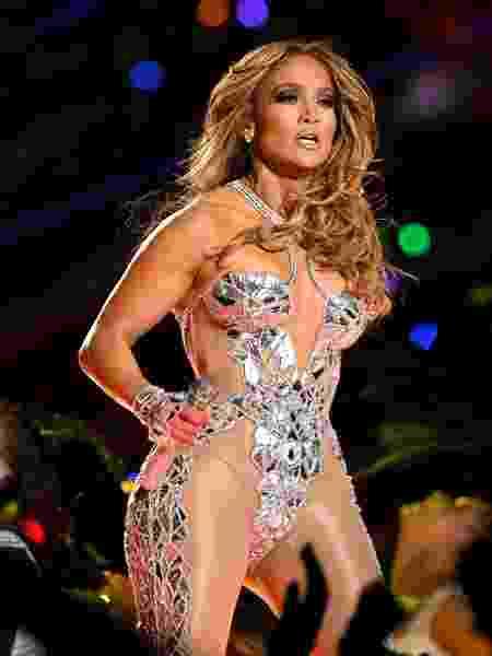 Jennifer Lopez durante apresentação no intervalo do Super Bowl - Kevin Winter/Getty Images/AFP