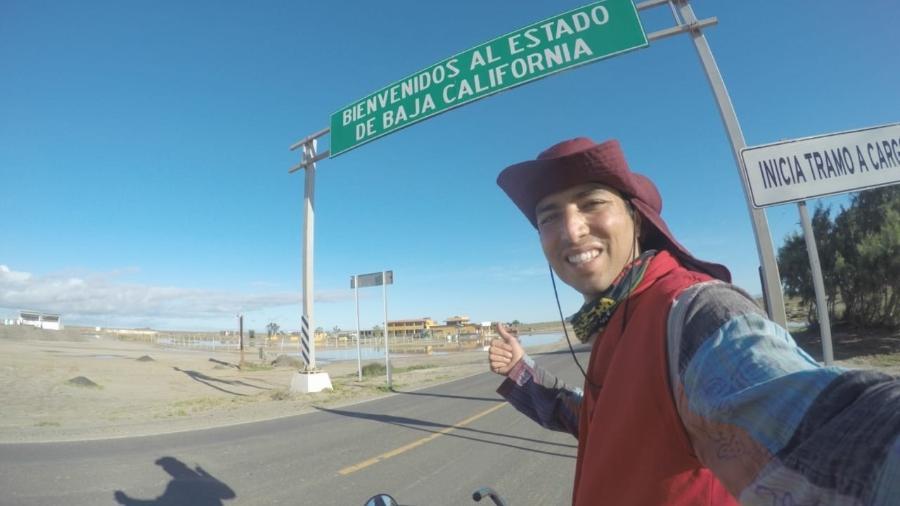Luís Antônio, de 27 anos, saiu de São Paulo há quatro anos para cruzar a América rumo aos Estados Unidos - Arquivo Pessoal