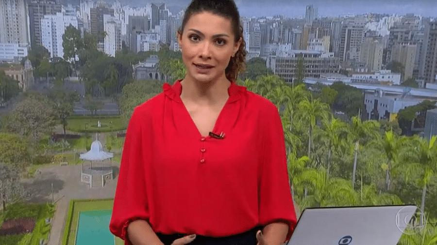 A jornalista Aline Aguiar, apresentadora do Bom Dia Brasil em Minas Gerais - Reprodução/TV Globo