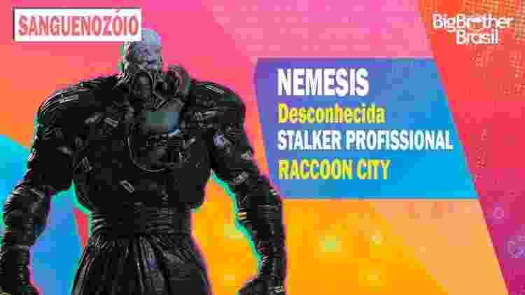 Nemesis no BBB - Montagem: Allan Francisco / Divulgação (Capcom) - Montagem: Allan Francisco / Divulgação (Capcom)
