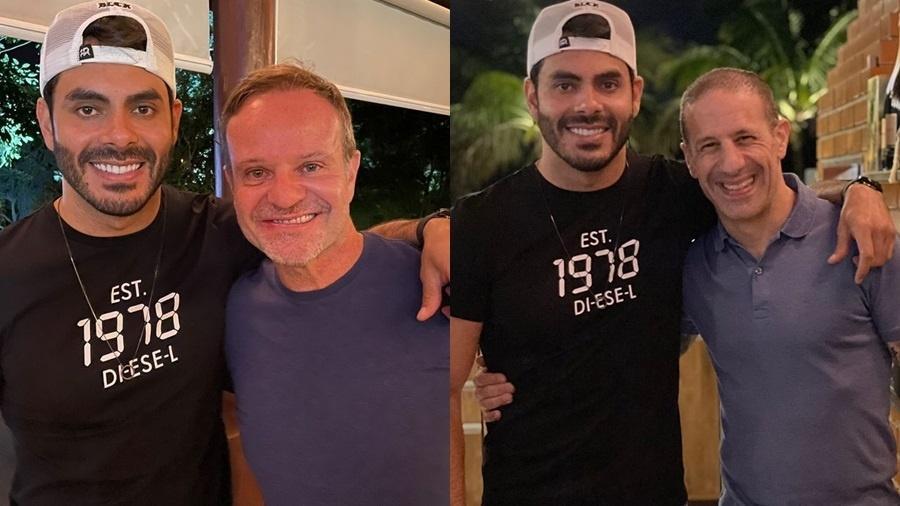 Rodolffo se encontrou com Rubens Barrichello e Tony Kanaan - Reprodução/Instagram