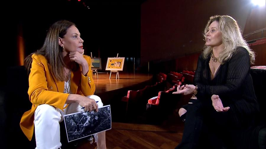 """Carolina Ferraz entrevista Vera Fischer no """"Domingo Espetacular"""" - Divulgação/RecordTV"""