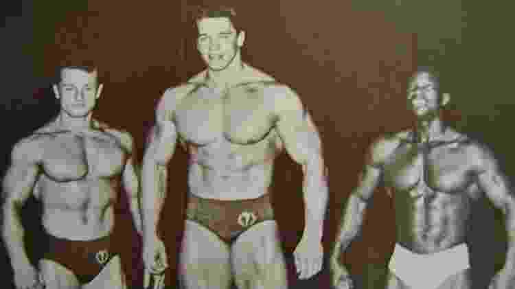 Arnold Schwarzenegger como Mister Universo - Reprodução - Reprodução