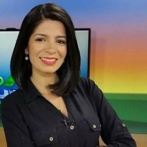 A jornalista Priscilla Sampaio, da TV Morena, afiliada da Globo no Mato Grosso do Sul - Reprodução