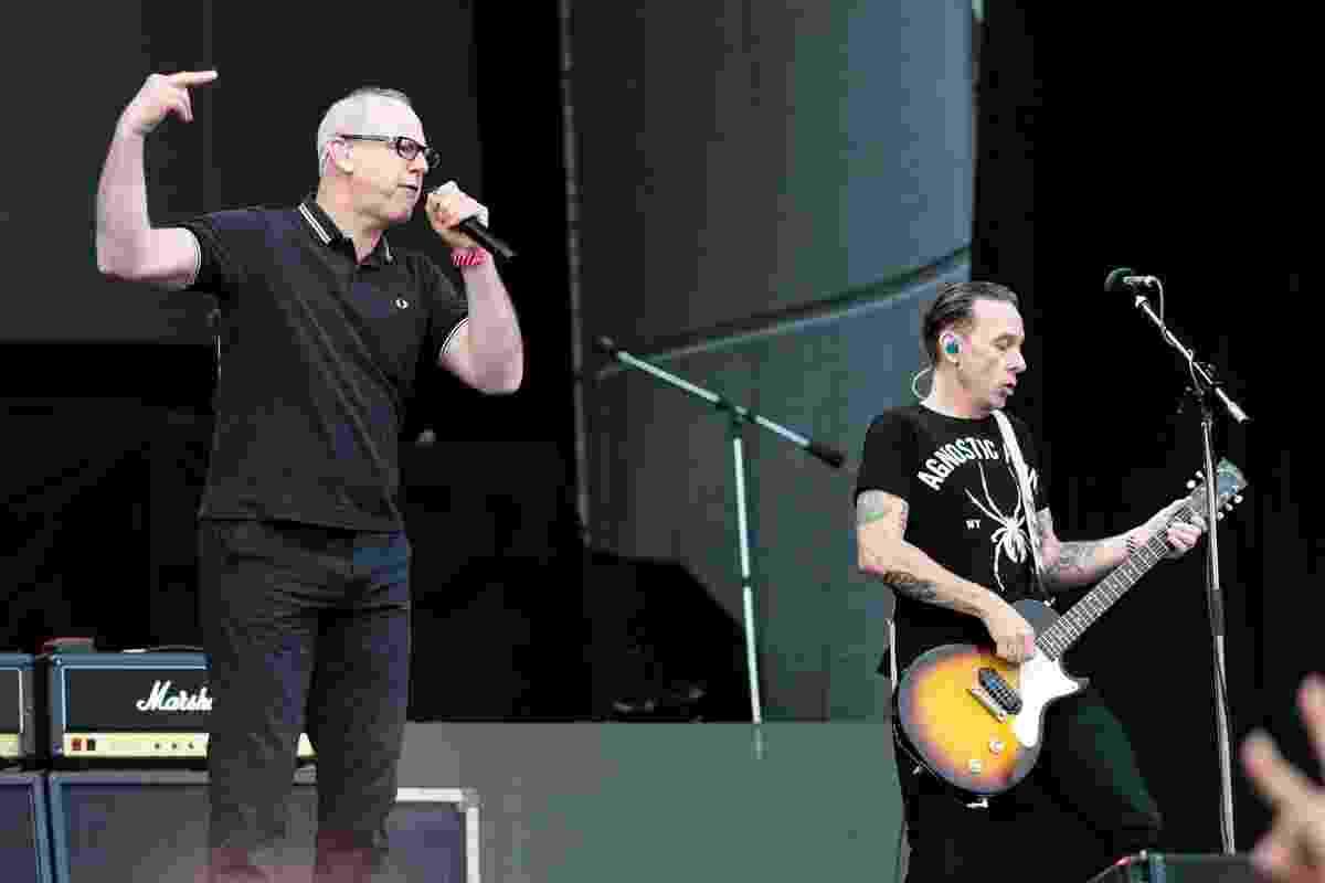 12.mar.2016 - Pioneiros do punk de Los Angeles dos anos 1980, o Bad Religion se apresenta no Lollapalooza Brasil 2016, em São Paulo - Manuela Scarpa e Rafael Cusato/Brazil News