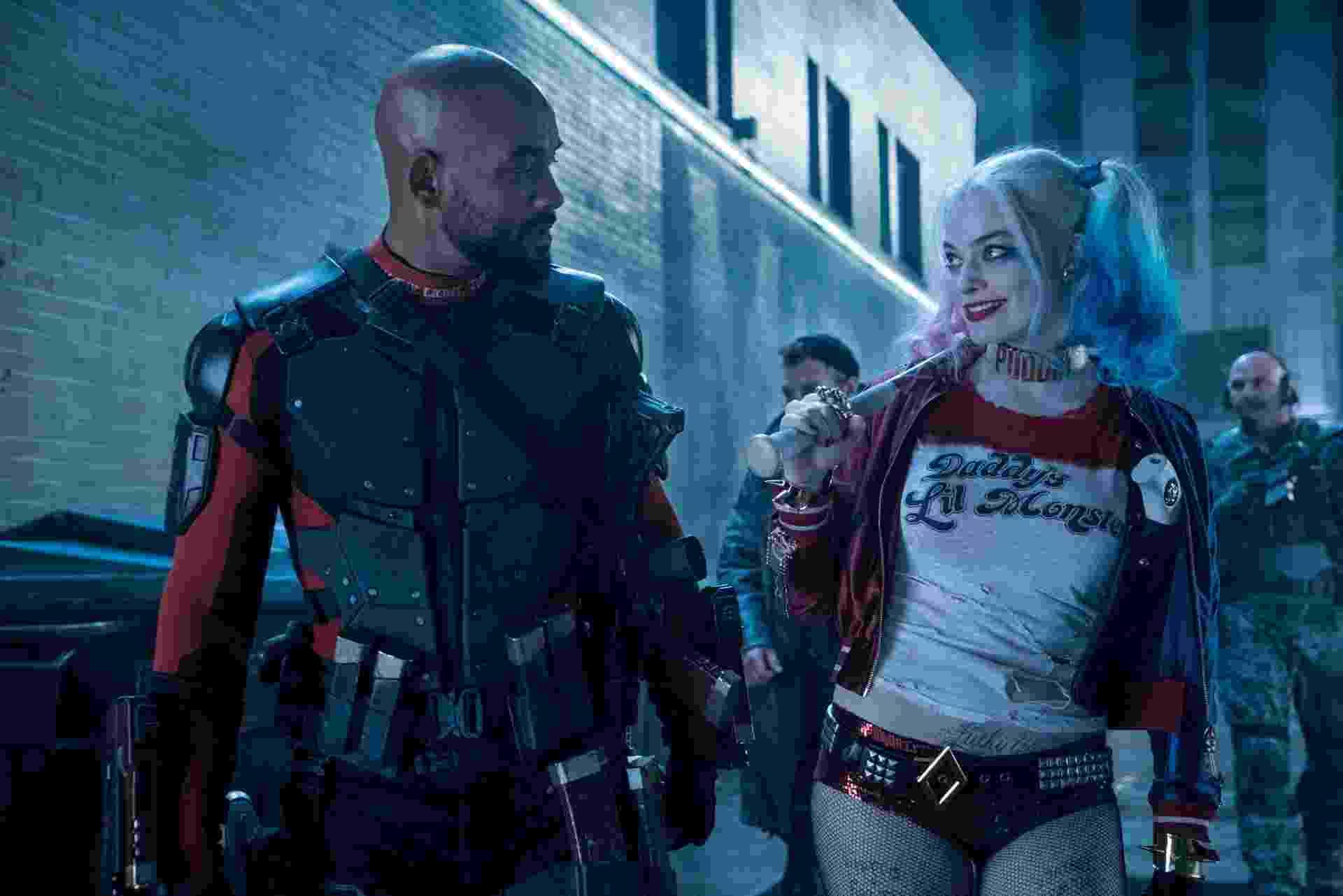 """Will Smith e Margot Robbie em cena de """"Esquadrão Suicida"""" - Divulgação"""