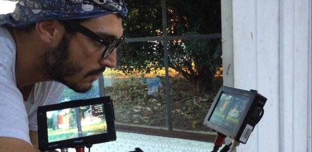 """Leandro Pagliaro é quem opera a câmera que reproduz o olhar de Santo em """"Velho Chico"""" - Arquivo pessoal"""