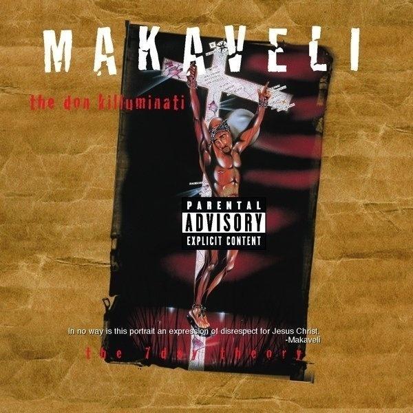 "Capa de ""The Don Killuminati: The 7 Day Theory"", do rapper Tupac Shakur, que usou o nome Makaveli"