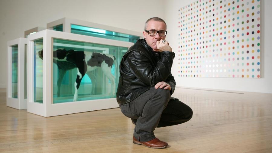 O artista britânico Damien Hirst - Divulgação/Tate Modern
