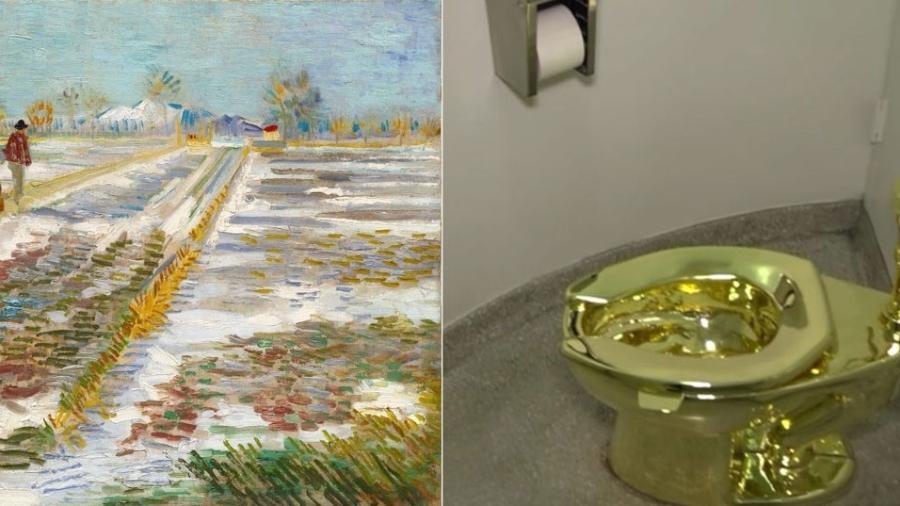 Trump pede quadro de Van Gogh emprestado a museu e recebe em troca vaso sanitário de ouro - Reprodução