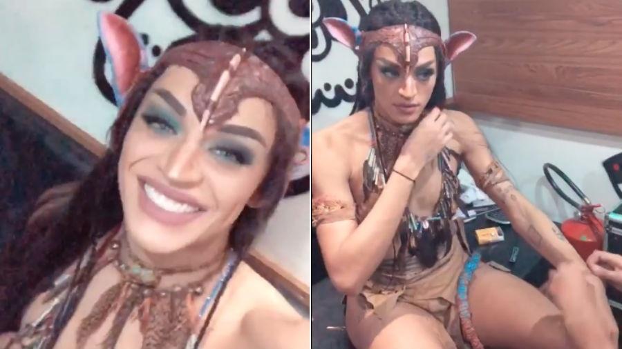 """Pabllo Vittar se veste de """"Avatar"""" - Reprodução/Instagram"""