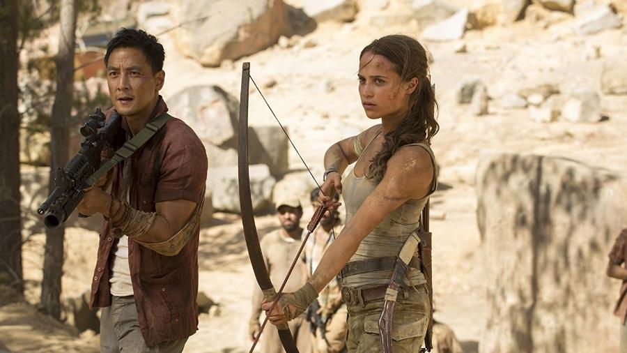 """Cena do filme """"Tomb Raider: A Origem"""" - Reprodução"""
