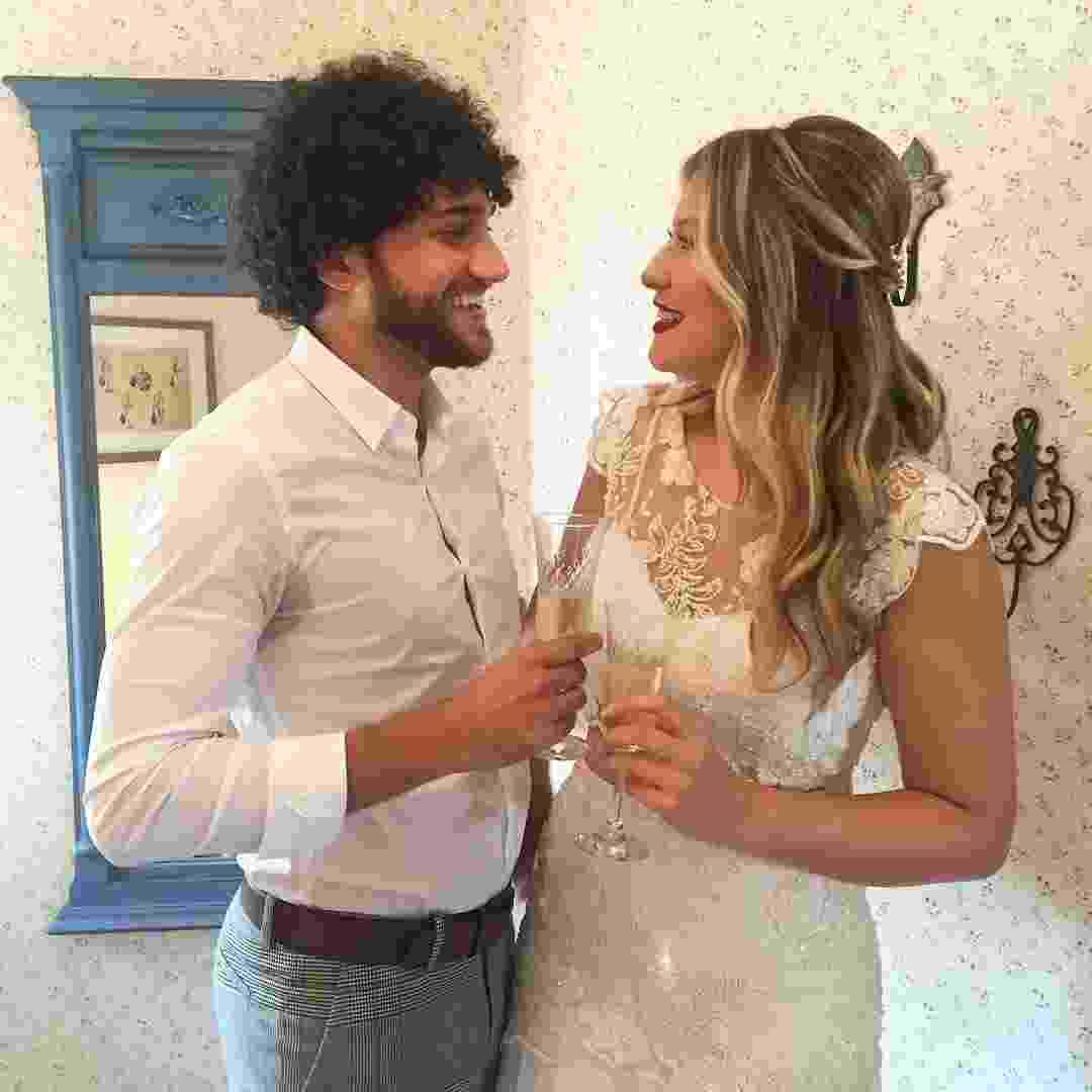 Nina e o marido Guilherme - Reprodução/Instagram