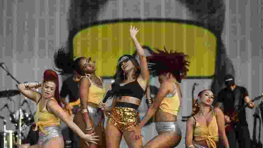 Anitta e suas bailarinas em show histórico no Rock in Rio, em Lisboa  - Divulgação