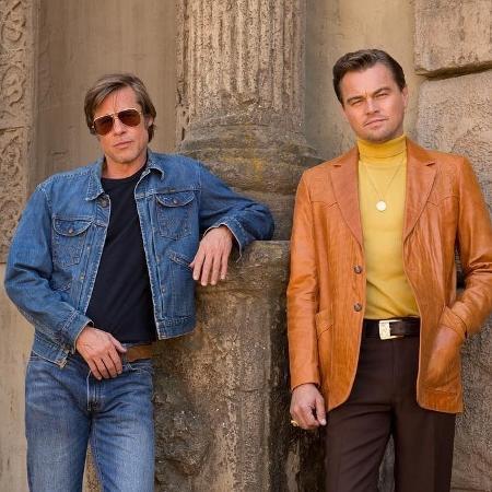 """Brad Pitt e Leonardo DiCaprio na primeira foto de """"Once Upon a Time in Hollywood"""", de Quentin Tarantino - Reprodução/Instagram"""
