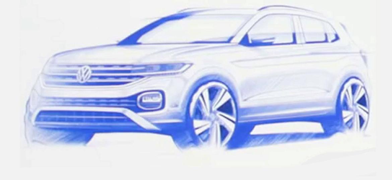 Volkswagen T-Cross, que teve esboço revelado recentemente, é um dos modelos antecipados há meses nesta coluna  - Divulgação