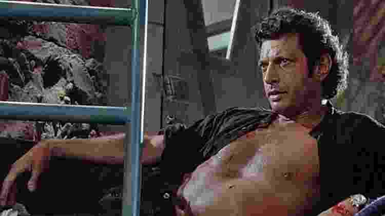 """Icônica cena de Jeff Goldblum em """"O Parque dos Dinossauros"""" - Divulgação - Divulgação"""