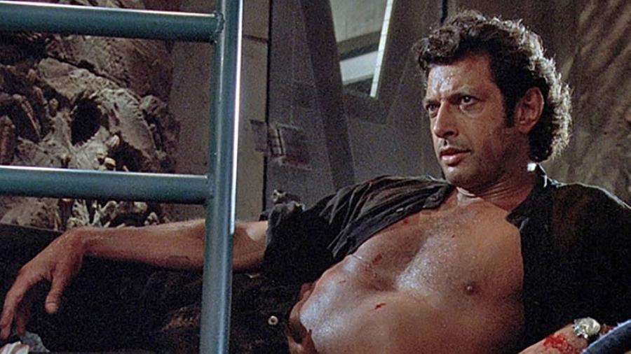 """Icônica cena de Jeff Goldblum em """"O Parque dos Dinossauros"""" - Divulgação"""