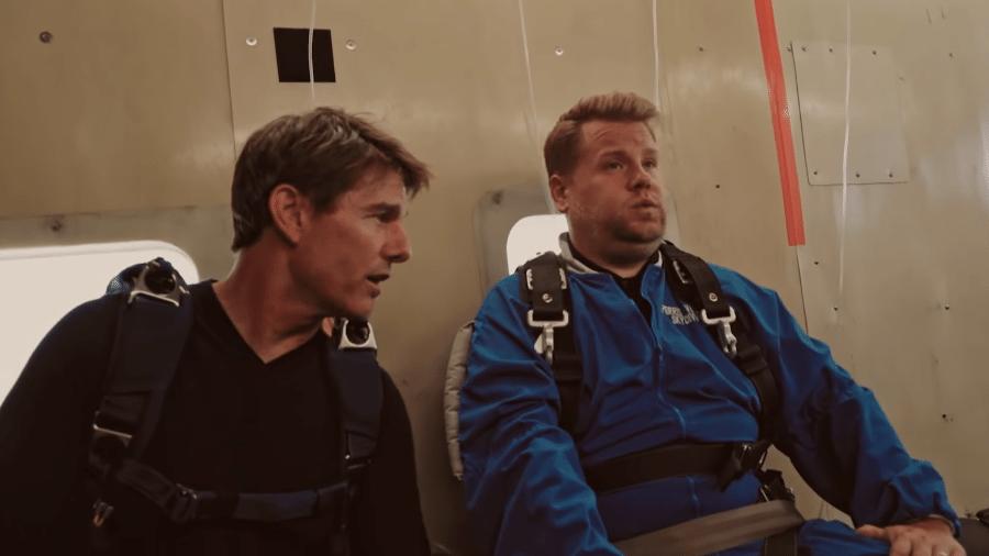 Tom Cruise e James Corden recriam salto de avião do Missão Impossível - Reprodução