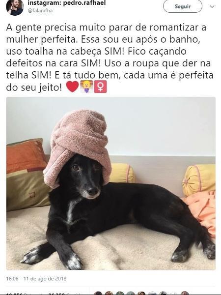 Meme Cleo Pires Toalha  - Reprodução/ Twitter