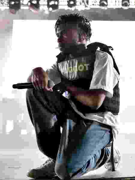 Kevin Abstract em ação com o Brockhampton - Matt Cowan/Getty Images  - Matt Cowan/Getty Images