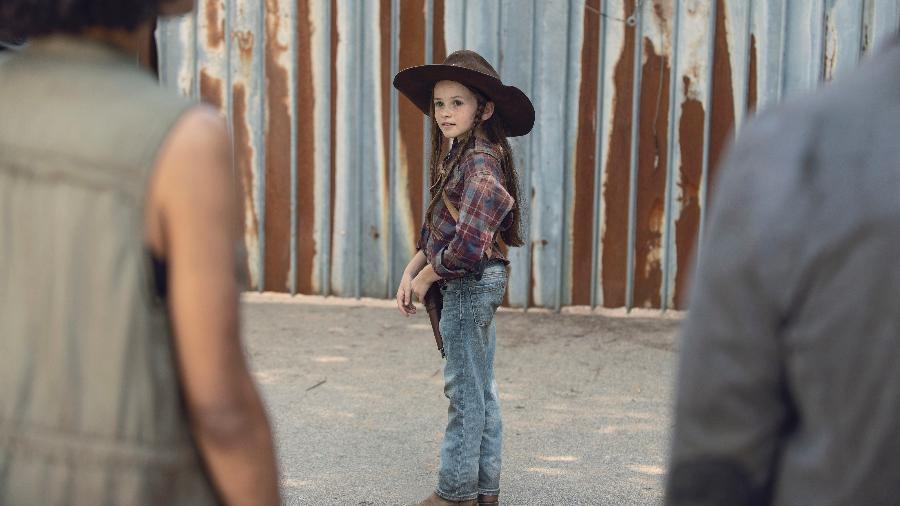 """Cailey Fleming como Judith em """"The Walking Dead"""" - Divulgação"""