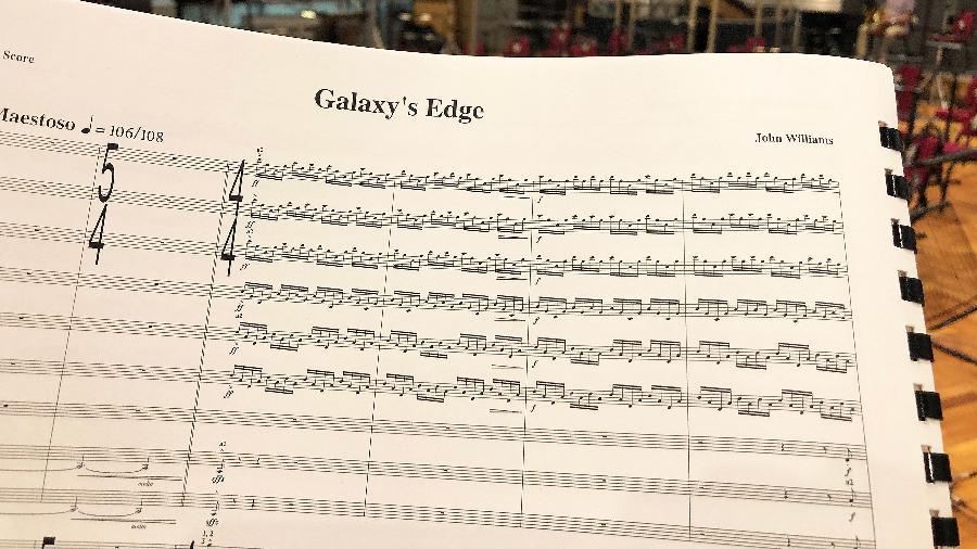"""Partitura da música que John Williams compôs para nova atração de """"Star Wars"""" em parque da Disney - Scott Trowbridge/Disney"""