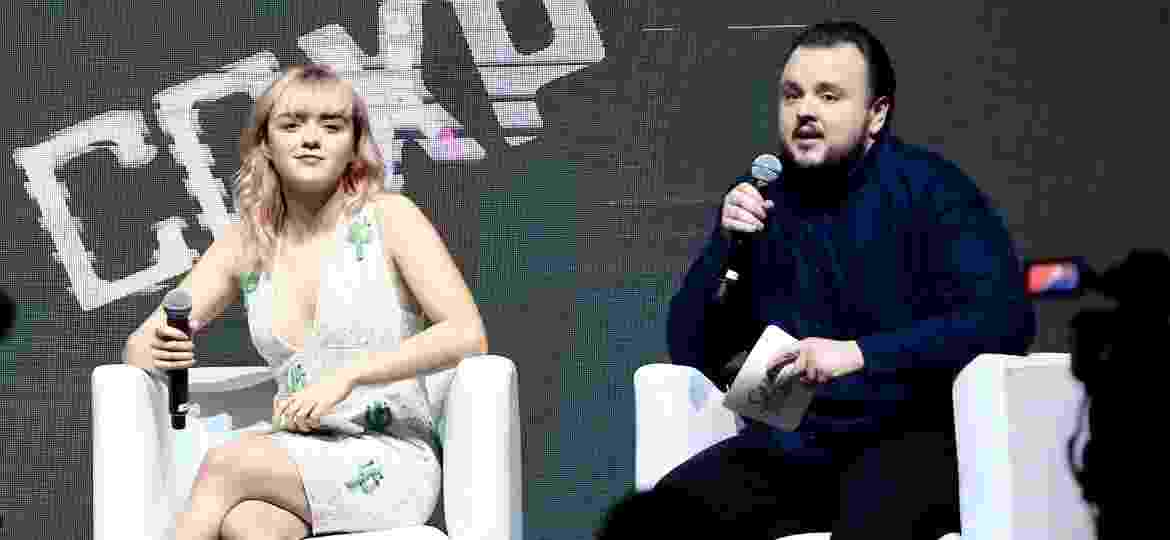 "Maisie Williams e John Bradley no painel de ""Game of Thrones"" na CCXP 18 - Manuela Scarpa/Brazil News"
