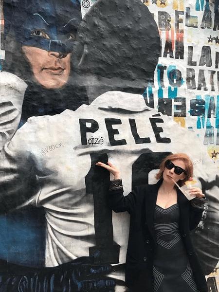 Jessica Chastain no Beco do Batman - Reprodução/Instagram