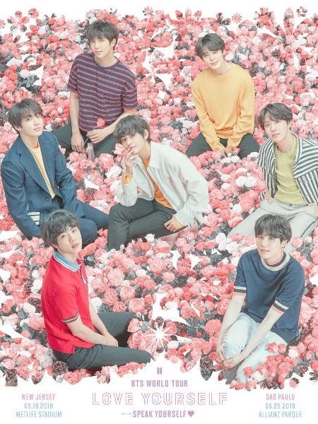 BTS em cartaz de sua nova turnê mundial - Divulgação