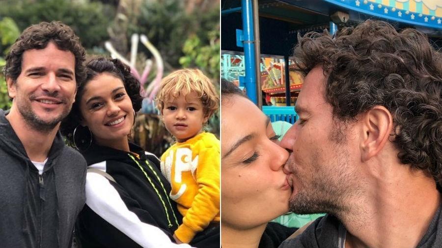 Daniel de Oliveira e Sophie Charlotte na Disney com o filho, Otto - Reprodução/Instagram