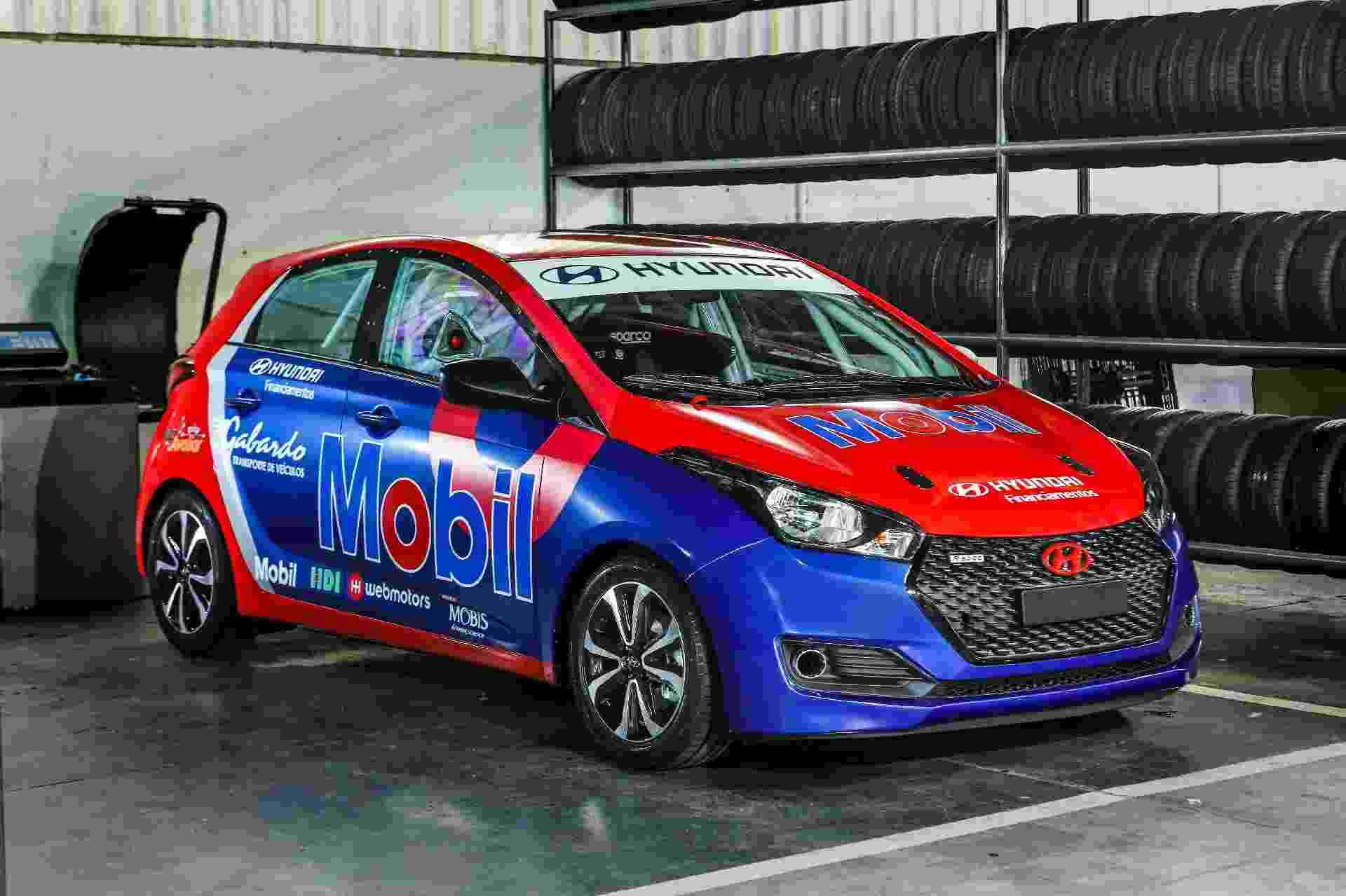 HB20 Motorsport é baseado na versão esportivada R spec e mantém motor 1.6 aspirado - Divulgação