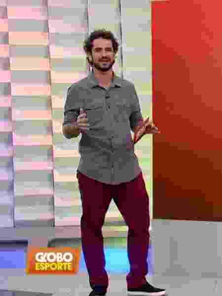 Felipe Andreoli no Globo Esporte - Reprodução/TV Globo