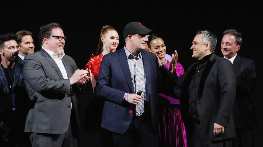 Jon Favreau, Kevin Feige e Joe Russo em pré-estreia de Vingadores: Ultimato -  Jesse Grant / Stringer