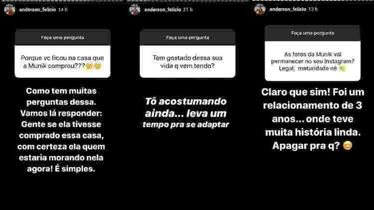 Anderson Felício responde a seguidores - Reprodução/Instagram