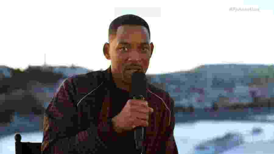 Will Smith pede música no Fantástico - Reprodução/TV Globo
