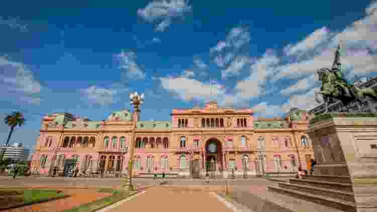 A Casa Rosada, sede do governo argentino, pode ser visitada em tours guiados - Ente de Turismo de la Ciudad de Buenos Aires/Divulgação