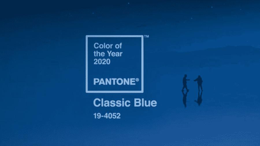 Cor do ano escolhida pela Pantone para 2020: 19-4052 Classic Blue - Reprodução/Pantone