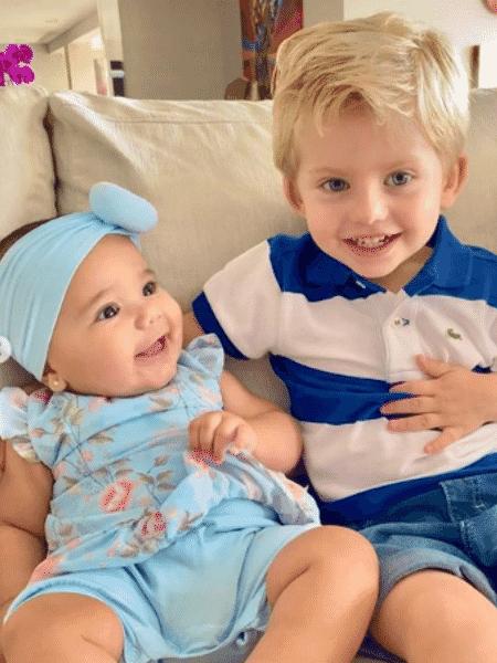 Manuella e Enrico, filhos de Ticiane Pinheiro e Karina Bacchi - Reprodução/Instagram