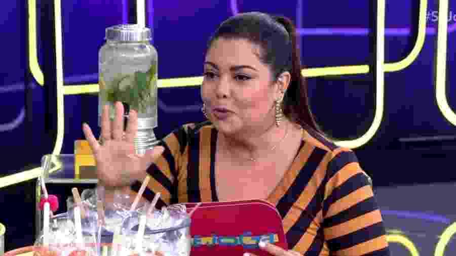 Fabiana Karla durante o Se Joga, da Globo - Reprodução/TV Globo