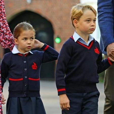 Príncipe George e Princesa Charlotte irão estudar em casa - Aaron Chown / AFP