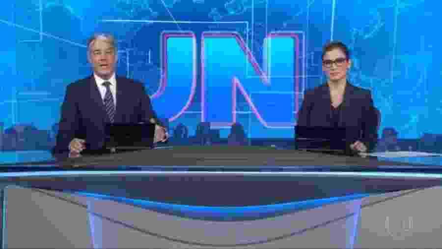 William Bonner e Renata Vasconcellos se dirigiram ao público pedindo calma diante da pandemia de coronavírus - Reprodução