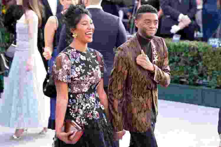 Chadwick Boseman e Taylor Simone Ledward se casaram pouco antes da morte do ator - Sarah Morris/Getty Images - Sarah Morris/Getty Images